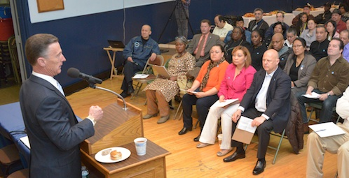 Candidates for NYC Mayor, Public Advocate meet with members