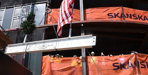 Final Steel Beam Is Placed in New Brooklyn Health Center